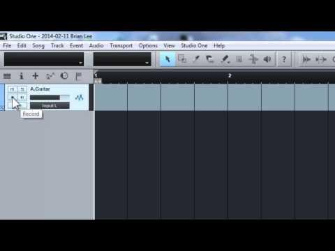 Record Audio using Studio One