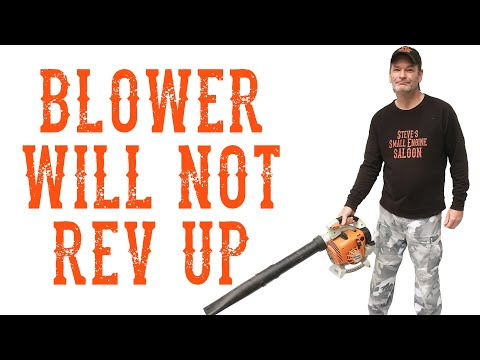 How Do I Quickly Repair a Stihl Blower that Won't Rev Up - HD VIDEO