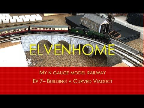 N Gauge Model Railway Scenery - Building a Curved Viaduct Elvenhome 7