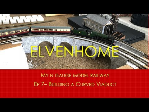 N Gauge Model Railway Scenery – Building a Curved Viaduct Elvenhome 7