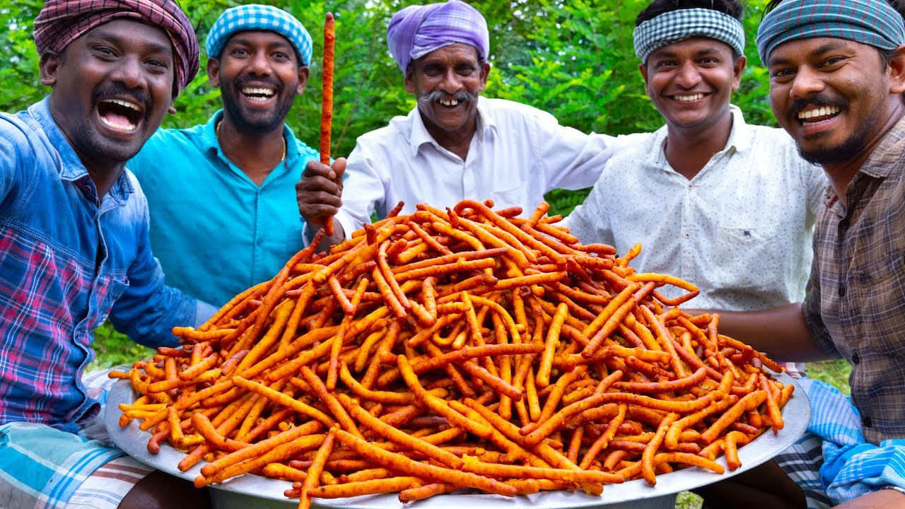 POTATO STICKS | Crispy Potato Fry Recipe Cooking In Village | Aloo Snacks | Potato Snack Recipe