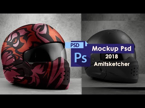 Realistic helmet mockup Photoshop Cs6 Tutorial using Smart object