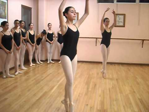 Center Exercises Pointe Shoes