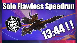 Solo Flawless Speedrun WORLD RECORD! 13:44! | Destiny 2 | Solo Flawless Prophecy Speedrun WR!