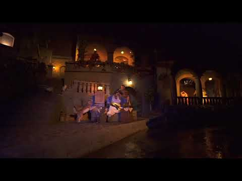 2018 Pirates of the Caribbean ride-though with new auction scene
