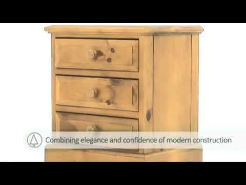 PineSolutions English Heritage Bedside Cabinet