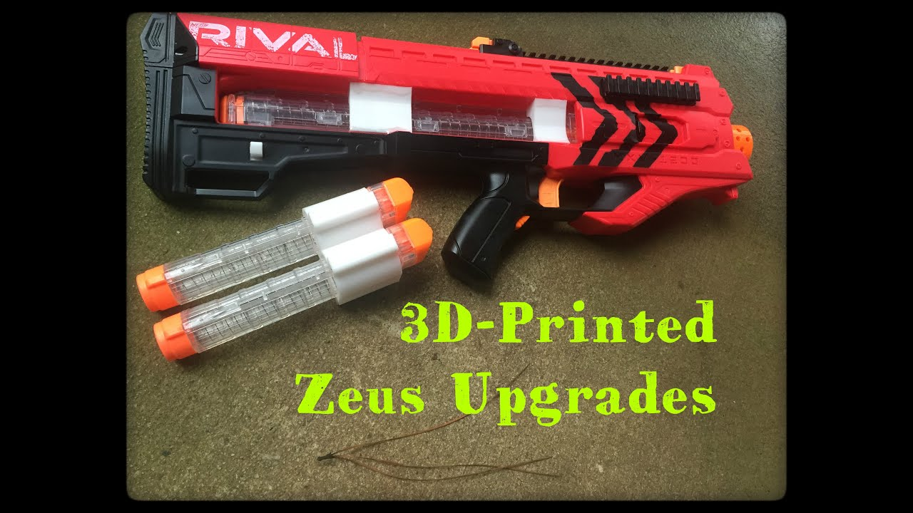 Review Nerf Rival Zeus 3D Printed Parts Kit Magazine Holder