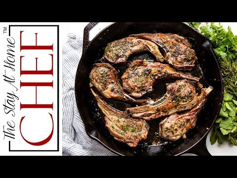 How To Make Easy Garlic Herb Lamb Chops | The Stay At Home Chef
