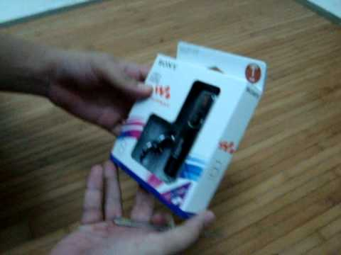 unboxing sony mp3 player
