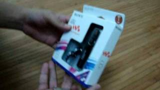 asmr unboxing sony mp3 player malaysia