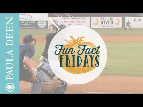 Paula throws out the first pitch at Savannah Sand Gnats Game