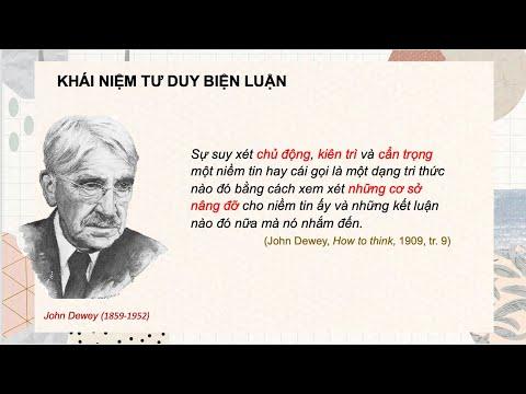 Định nghĩa của John Dewey về tư duy biện luận