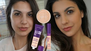 NEW RIMMEL STAY MATTE FOUNDATION & CONCEALER | REVIEW AND DEMO