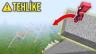 ÖRÜMCEK ADAM 10.000 METRE YÜKSEKTEN ATLIYOR ÖLECEK Mİ? - Minecraft
