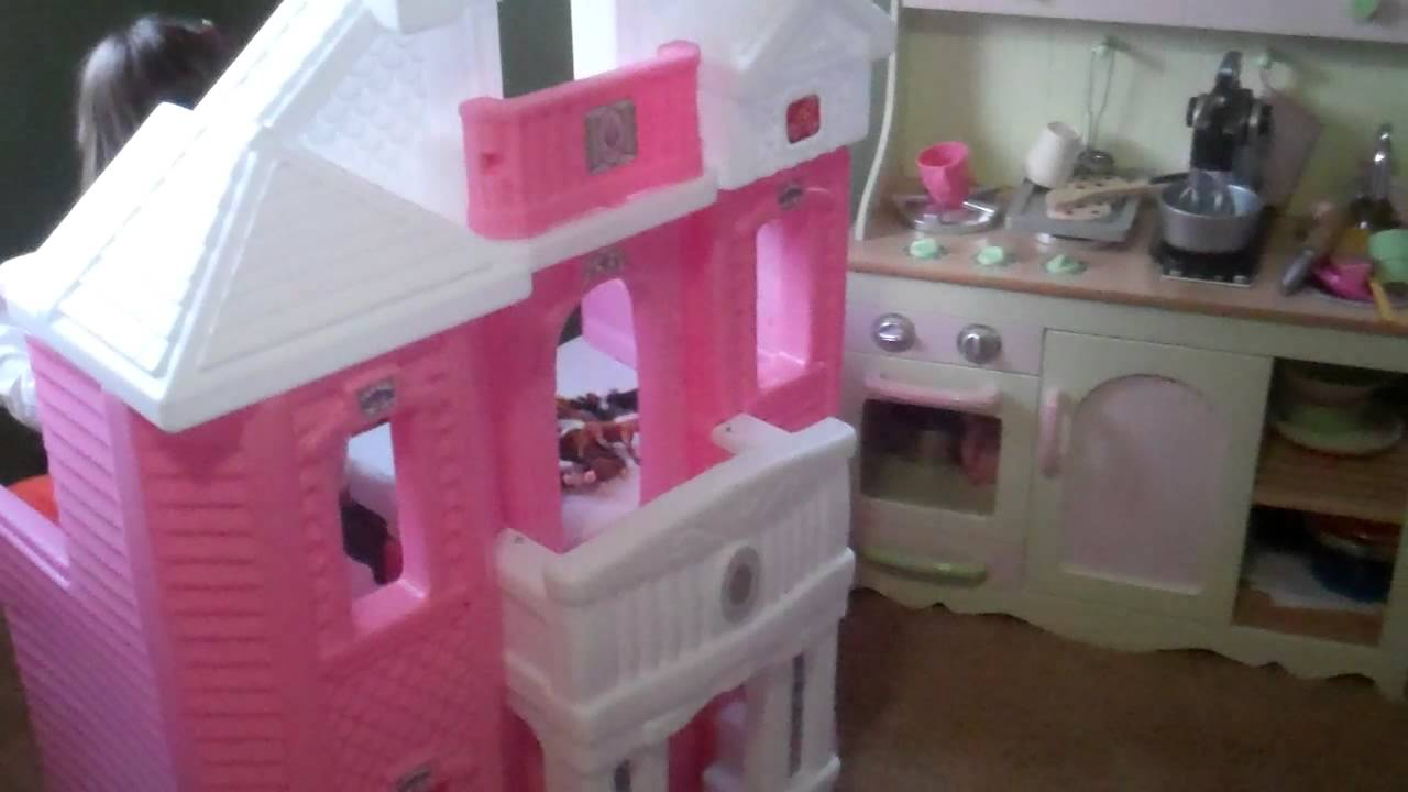The Girls And Their Step2 Grand Balcony Dollhouse   YouTube