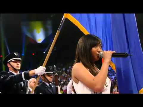 Charice sings the Philippine National Anthem for Pacquiao vs Mosley