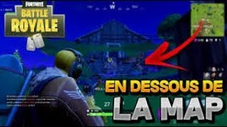 FORTNITE BATTLE ROYALE GLITCHE ALLER SOUS LA MAPE