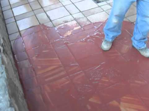 Como pintar las juntas del piso youtube - Pintura para pintar piso de cemento ...