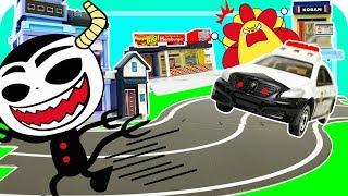 トミカ♪♪ パトカーやはたらくくるまのはしるアイディアいっぱいのトミカタウンをつくろう! どうろやおみせをおいてステキなまちづくり♪