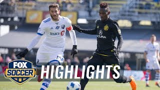 Columbus Crew SC vs. Montreal Impact | 2018 MLS Highlights