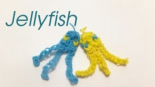 How to make a Rainbow Loom Jellyfish charm | loom bands tutorial