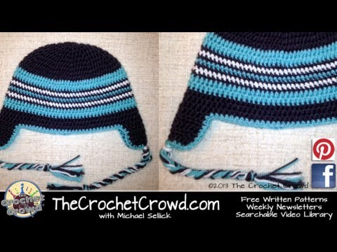eb58b8bf62c How To Crochet a Hat  Adult Ear Flap with Braids Hat - YouTube