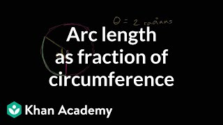Arc length as fraction of circumference | Trigonometry | Khan Academy