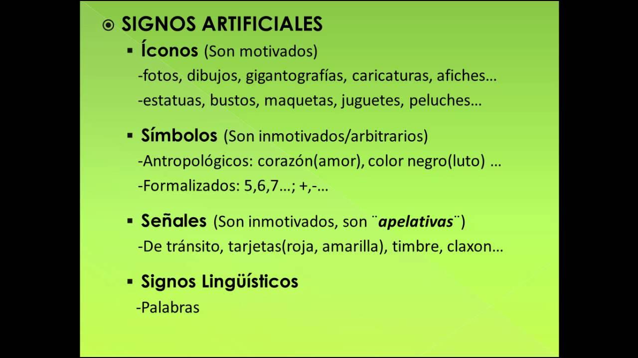 Semiotica Signos Naturales Artificiales