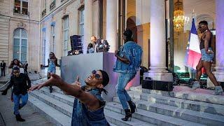 Baixar Macron deu o arranque da Festa da Música no Eliseu
