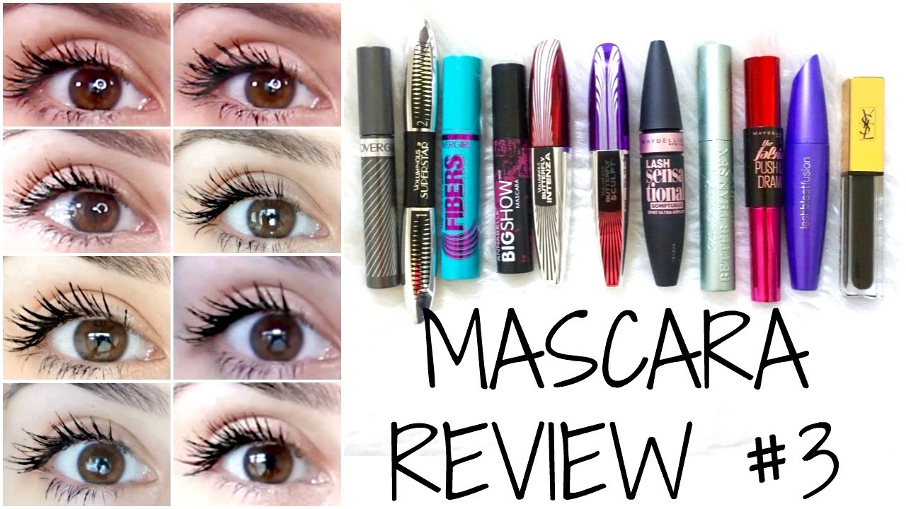 Mascara Review 2016 - Mostly Drugstore + EYE PICTURES - YouTube