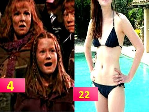Ginny Weasley Bonnie Wright from 3 to 26 years old  Harry Potter movie star then and now