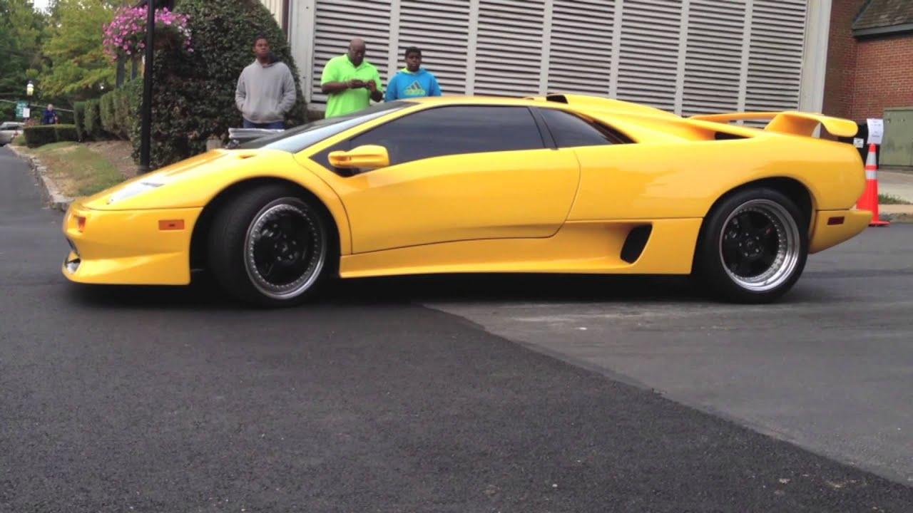 Rare Yellow Lamborghini Diablo Sv Youtube