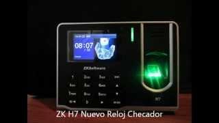 REGISTRO DE HUELLAS DIGITALES ZK H7 TUTORIAL