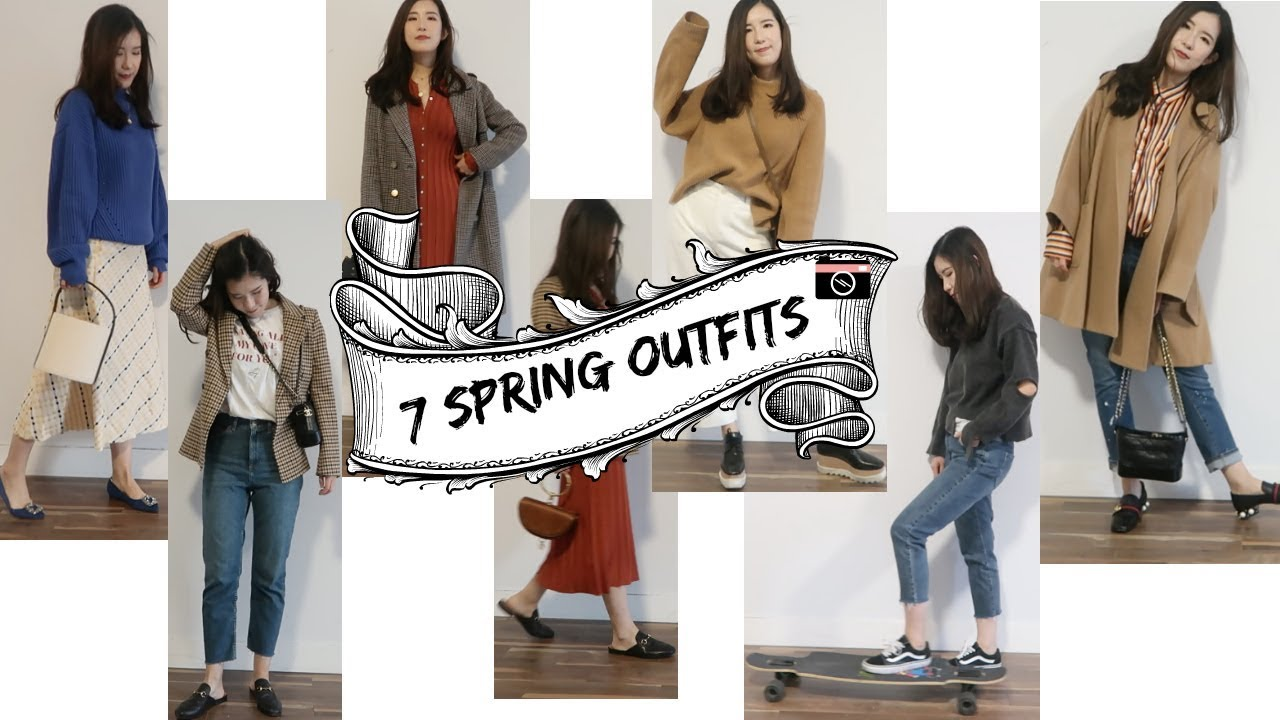 [VIDEO] - 7 spring outfits| 7套早春日常穿搭 | Zara, Topshop, hm, MaxMara, LV, CHANEL.. 1