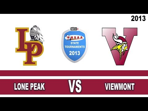 2013 5A Girls Soccer Semifinals: Viewmont High School vs. Lone Peak High School Utah
