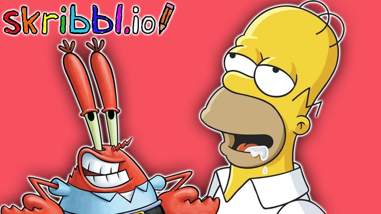 Spongebob memes homer simpson skribbl io funny moments