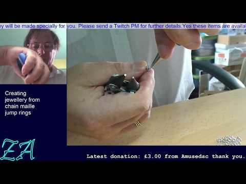 Sterling Silver byzantine bracelet - Originally twitch broadcast 5 September 2015