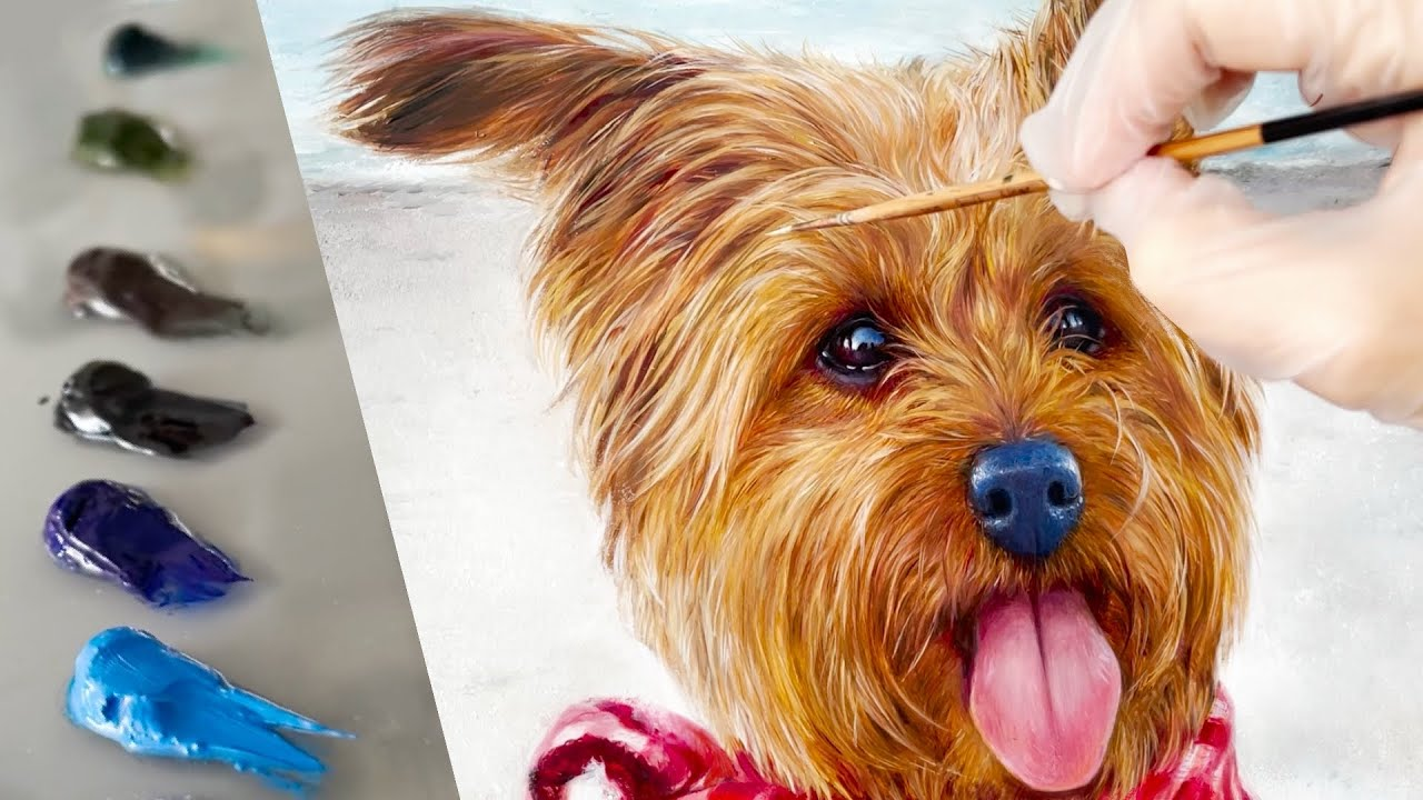 Oil Painting Tips | PET PORTRAIT Painting FUR