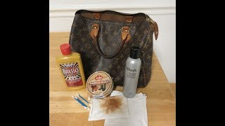 How to clean a Louis Vuitton Speedy Bag with Saddle Soap