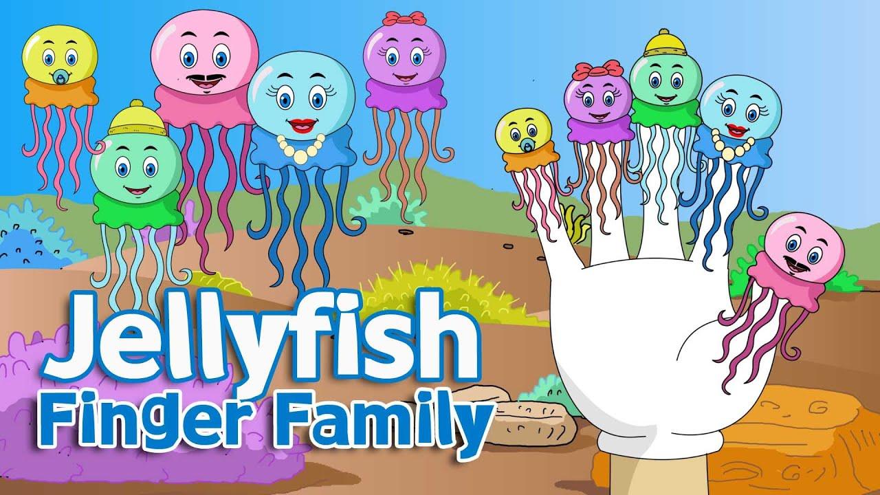 Jellyfish Finger Family Nursery Rhyme for Children - YouTube