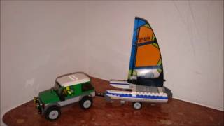 LEGO CITY CATAMARAN TRAILER JEEP 4X4 OUT ROAD CAR