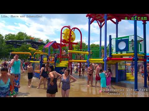 [4K] Tour Of Splashworks Water Park At Canada's Wonderland