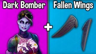 "10 AMAZING ""FALLEN WINGS"" SKIN COMBINATIONS! (Fortnite Best Skin + Backbling Combos)"