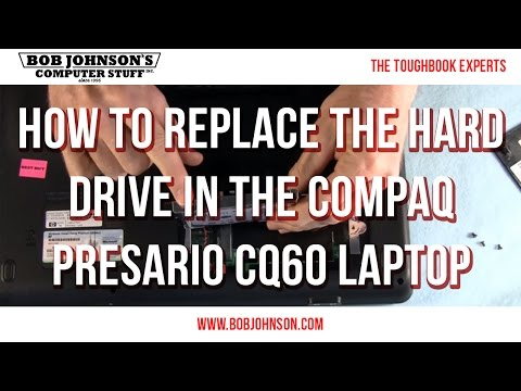 How to replace the hard drive in the Compaq Presario CQ60 Laptop