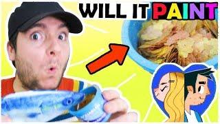 WILL IT PAINT: FISH FOOD?! .. ew this stinks!