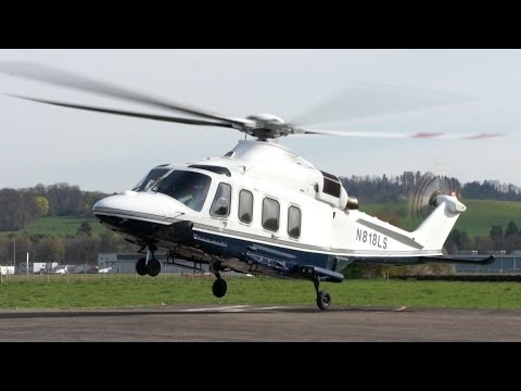 AgustaWestland AW139 Start-Up & Take-Off at Heliport Bern