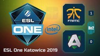 🔴 Live Fnatic vs Aster / Bo2 / ESL One Katowice 2019 / Dota 2 Live