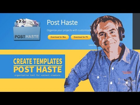 How to create folder templates in Post Haste
