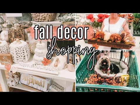 SHOP WITH ME FOR FALL HOME DECOR 2018 | HOMEGOODS & HOBBY LOBBY #FallFridaysWithPage | Page Danielle