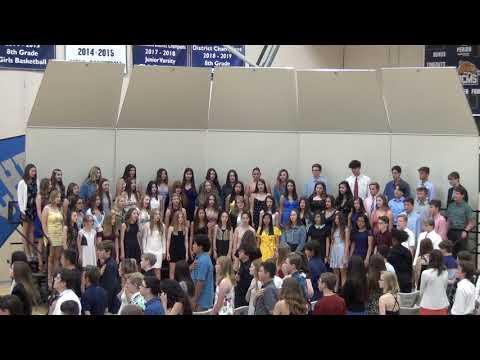 Desert Canyon Middle School Choir - 8th Grade Graduation - National Anthem